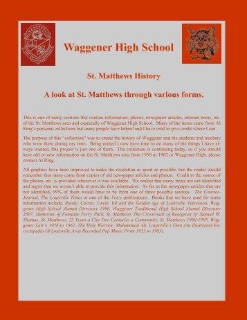 St. Matthews History - RingBrothersHistory.com