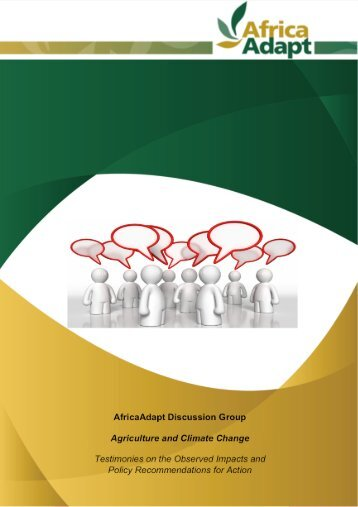 """Summary of AfricaAdapt Dgroup """"Agriculture and climate change"""