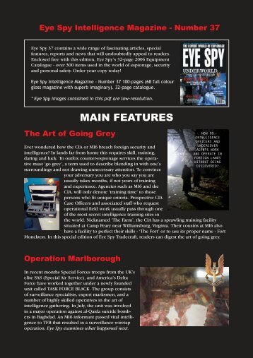 view contents - Eye Spy Intelligence Magazine