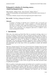 Pedagogical evaluation of e-learning courses - Adapted ... - ICL
