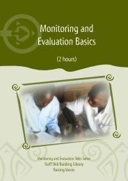 Monitoring and Evaluation Basics - Raising Voices