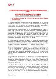 Gabinete Técnico 1 PANORAMA DE LA EDUCACIÓN ... - FETE-UGT