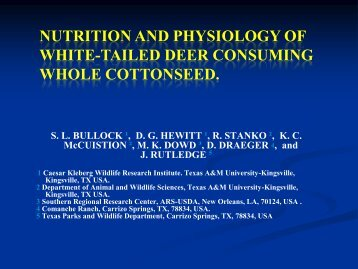 nutrition and physiology of white-tailed deer consuming whole ...