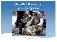 Mänsklig säkerhet - Öppemn föreläsning Försvarshögskolan