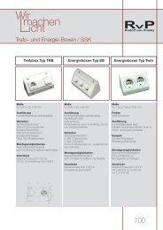700 Trafo- und Energieboxen + Schalter-Steckdosen-Kombination