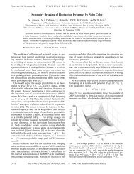 Symmetry Breaking of Fluctuation Dynamics by Noise Color