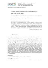 Exchange of helicity in a knotted electromagnetic field - Universidad ...