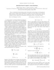 Ionization fronts in negative corona discharges - American Physical ...