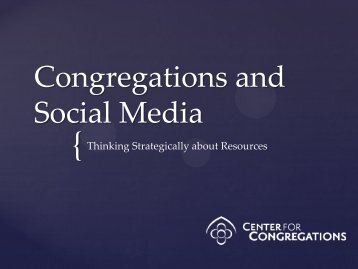 Social Media in Congregational Settings - Whitewater Valley ...