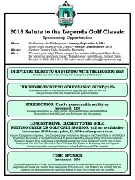 2013 Salute to the Legends Golf Classic