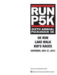 5K RUN LAKE WALK KID'S RACES - Wayne NJ Public Schools