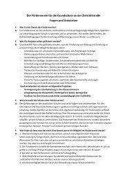 Antworten auf häufig gestellte Fragen - Grundschule an der ...