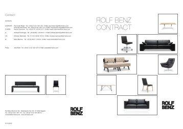 Contract-Produktfolder hier als PDF zum ... - ECHTZEIT bei Rolf Benz