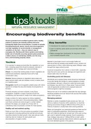 Encouraging Biodiversity Benefits - Guide to Rural Residential Living
