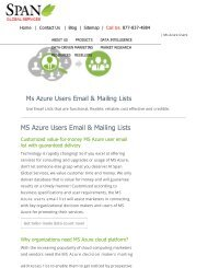 Targeted MS Azure Users Mailing List from Span Global Services