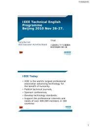 IEEE Technical English Programme Beijing 2010 Nov 26-27.