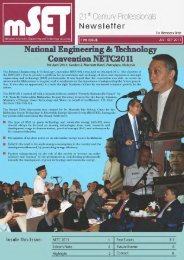 Issue 11 : July - September 2011 - malaysian society for engineering ...