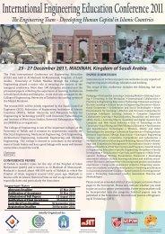International Engineering Education Conference 2011 - malaysian ...