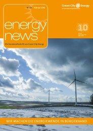 Energy News - Kundenmagazin von Green City Energy