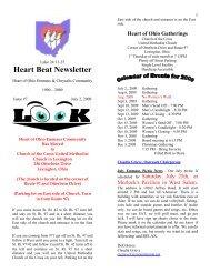 Heart Beat Newsletter - Heart of Ohio Emmaus/Chrysalis