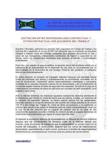 Distinción entre Responsabilidad Contractual y ... - Sigweb