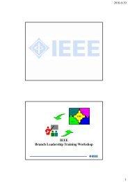 IEEE IEEE Branch Leadership Training Workshop