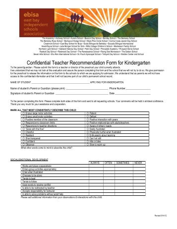 Confidential Teacher Recommendation Form for ... - Mills College
