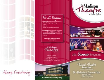 TheatreSummer Intensive Brochure edited - Madison Theatre