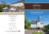 SPEISEKARTE - Kurhaus Hotel Bad Münstereifel