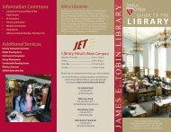James E. Tobin Library Guide - Molloy College