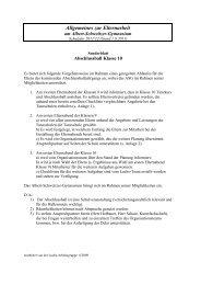 Allgemeines zur Elternarbeit - Albert-Schweitzer-Gymnasium ...