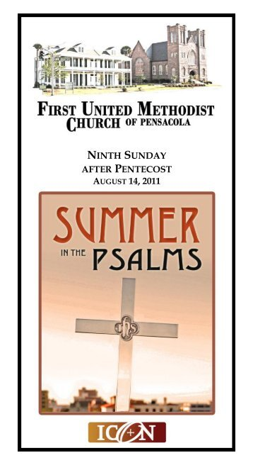 ninth sunday after pentecost august 14, 2011 - First United ...