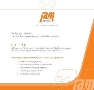 10 Jahre Begabtenförderung Mitteldeutschland - Jugend Aktiv ...