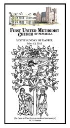 sixth sunday of easter may 13, 2012 - First United Methodist Church