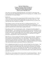 Interview Marion Rosen Founder of the Rosen ... - Rosen Journal