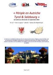 Périple En Autriche Tyrol & Salzbourg - Tribune de Genève