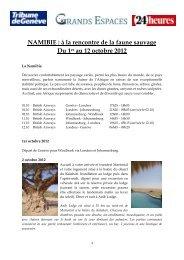 NAMIBIE - Tribune de Genève