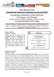 Croisière de 8 jours et 7 nuits du 5 au 12 avril 2012 - Tribune de ...
