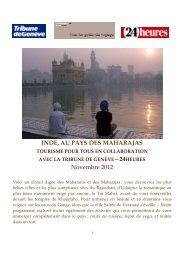Programme Inde - Tribune de Genève