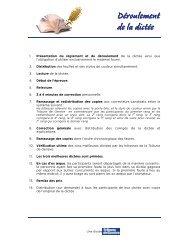 Audrey Déroulement et règlement dictée SILP 2011 - Tribune de ...