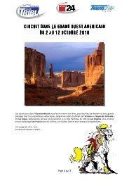 TDG_Programme Grand ouest américain - Tribune de Genève