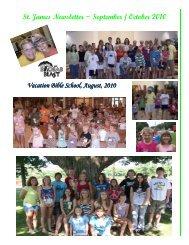 St. James Newsletter ~ September / October 2010