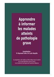Apprendre à informer les malades atteints de pathologie grave