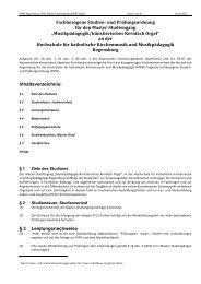 Fachbezogene Studien - Hochschule für katholische Kirchenmusik ...