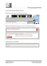 Anleitung Zugangsdaten Website - BSC Vitudurum