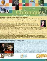 Bulletin de l'été 2012 - Roger's House