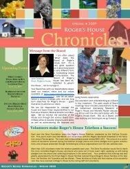Spring 2009 Newsletter - Roger's House