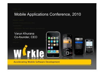 Mobile Applications Conference, 2010