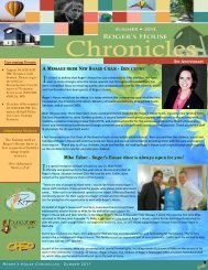 Summer 2011 Newsletter - Roger's House