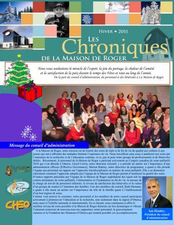 Bulletin de l'hiver 2011 - Roger's House